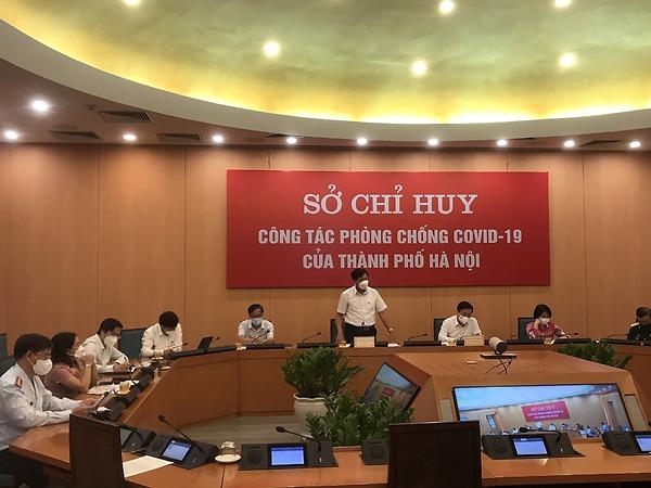 Thứ trưởng Đỗ Xuân Tuyên làm việc với Hà Nội về công tác phòng chống dịch COVID-19