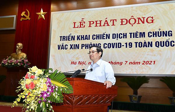 Thủ tướng dự Lễ phát động triển khai Chiến dịch tiêm chủng vaccine phòng COVID-19 toàn quốc